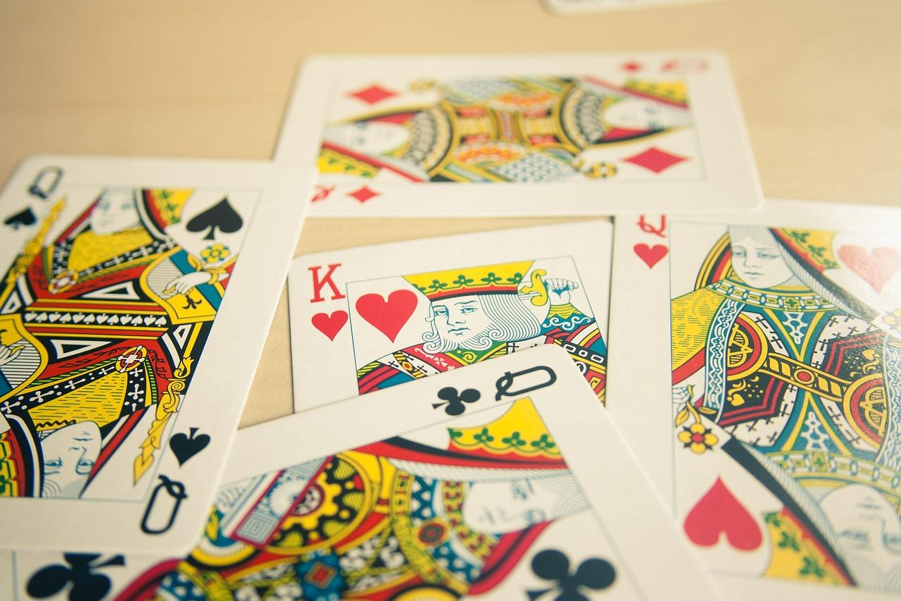 Queen Card Hearts Clubs Diamond Spades